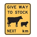STOCK CROSS.SIGN GIVE WAY TO STOCK.. REF