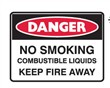 DANGER NO SMOKING.. 900X600 C1 REF MTL