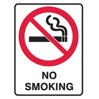 NO SMOKING 900X600 C1 REF MTL
