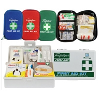 VEHICLE & LOW RISK FIRST AID KIT WITH SOFT CASE - RED
