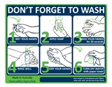 WASH YOUR HANDS 225X300 POLY