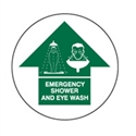 FLOOR SIGN EMERGENCY SHOWER AND EYE..