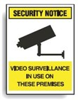SECURITY LABEL VIDEO SURVEILLANCE.. PK5