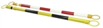 Red & White Reflective Retractable Barrier Bar - Retractable Barrier Bar