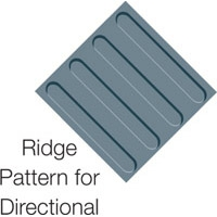 TACTILE FLOOR DIRECTIONAL INDICATOR GRY