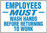 Hygiene & Food Sign Employees Must.. , Safety Signs, Sold Per Sgn With Qty Of  1