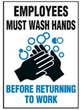 Hygiene+Food Sign Employees 225X300 Pol , Safety Signs, Sold Per Sgn With Qty Of  1