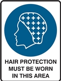 Hygiene & Food Sign Hair Protection.. , Safety Signs, Sold Per Sgn With Qty Of  1