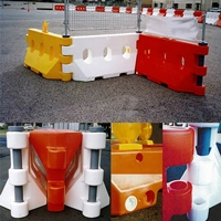 WATER FILLED BARRIER WHITE