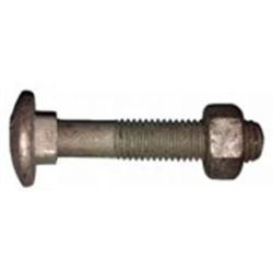 30mm HDG Cup Head Bolt & Nut M10 (10mm) Metric with 25mm coarse thread