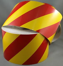 Class 2 Reflective Tape Red/Yellow 150mm x 45.7mtr roll