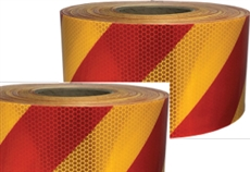 Class 1 Reflective Tape Red/Yellow 150mm x 45.7mtr roll