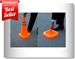 Retractable traffic cones Orange