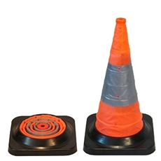 retractable traffic cone 450mm orange