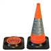 Retractable traffic cone 700mm Orange