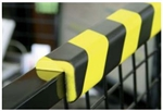 "Polyurethane anti collision strip 1m black and yellow ""L"" shaped profile"