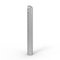 Cam-Lock Removable Bollard 140mm dia. freestanding post Galv finish - (2 x BCLKEY incl per order)