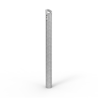 Cam-Lock Removable Bollard 90mm dia. freestanding post Galv finish - (2 x BCLKEY incl per order)