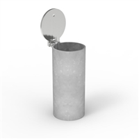 90mm diameter in-ground stainless steel sleeve - core drilled for Cam-Lock Removable Bollard