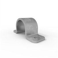 Ball fence toe board saddle clamp- galvanised