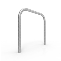 Bike Rail - Style 1 - Rounded 850 x 800mm Below Ground - Galvanised Steel