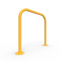 Bike Rail - Style 1 - Rounded 850 X 800mm Surface Mounted - Galvanised Steel And Powder Coated