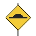 Steel Speed Hump Slo-Motion Standard Duty - Complete Speed Hump Sign Kit, Sold Per Kit