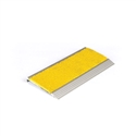 Architectural - Stair Nosing 75 X 10 X 3620mm Natural Anodised With Frp Insert - Yellow