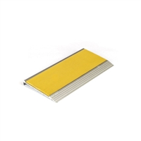 Architectural - Stair Nosing 75 X 10 X 3620mm Natural Anodised With Pvc Insert - Yellow