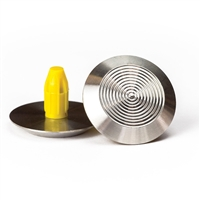 Warning Tactile Round Pack of 100 - 316 Stainless Steel