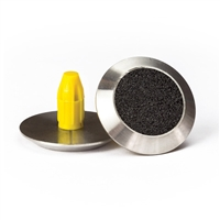 Warning Tactile Indicators Round Black Carborundum Infill Pack Of 100 - 316 Stainless Steel