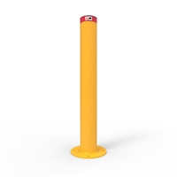 Heavy Duty Steel - Round Bollard 165mm Surface Mounted - Galvanised and Powder Coated