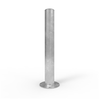 Heavy Duty Round Bollards - Centurian 165mm diameter surface mount bollard (loose cap), Galv finish