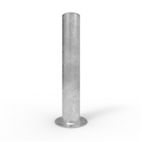 Heavy Duty Round Bollards - Centurian 220mm diameter surface mount bollard (loose cap), Galv finish
