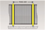 De-fence steel gate post 1300 x 75 x 75mm with fixings