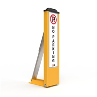 Fold Down Parking Space Protector - No Parking