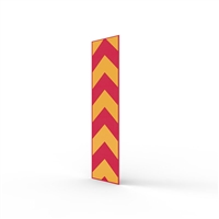 Fold Down Bollard Reflective 120 X 500mm Red/Yellow Sticker