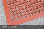 Anti-fatigue oil resistent floor mat 910 x 1520mm - Red
