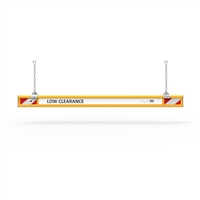 Aluminium Height Bars - 2 Metre Aluminium Height Bar With Text And Hangers