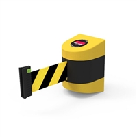 Neata Wall Mount Barrier 10m - PVC - Black/Yellow