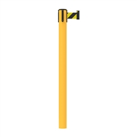 Stanchion Fixed In-Floor Upvc Belt Post 3M - Black/Yellow