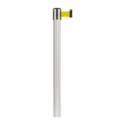 Stanchion Fixed In-Floor Economy Belt Post 3M - Yellow