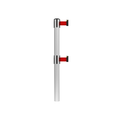 Neata Double Belt Post Fixed In-floor Economy Stainless Steel - Red