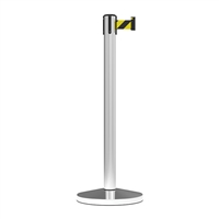 Stanchion Midline Economy Retractable Belt Post 3M - Black/Yellow