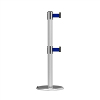 Neata Double Belt Post Roller Base Economy Stainless Steel - Blue