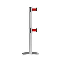 Neata Double Belt Post Roller Base Economy Stainless Steel - Red
