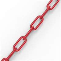 6mm plastic chain - Red/roll