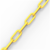 6mm plastic chain - Yellow/roll