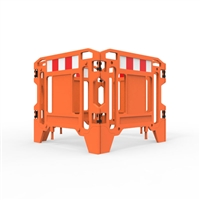 Pit Surround 1250mm Square - Hi-Vis Orange With Reflective Panels