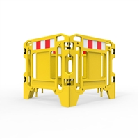 Pit Surround 1250mm Square - Hi-Vis Yellow With Reflective Panels